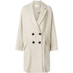 Isabel Marant Étoile Fimo oversized blazer (19 940 UAH) ❤ liked on Polyvore featuring outerwear, jackets, blazers, boho jacket, white blazers, double-breasted blazers, bohemian jacket and party blazers