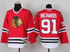 NHL Jerseys Chicago Blackhawks 91 Brad Richards Red