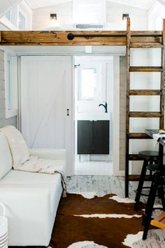 Living Area & Bathroom - Tiny Marta by Sanctuary Tiny Homes