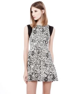 JACQUARD DRESS - DRESSES - WOMAN - PULL&BEAR Armenia