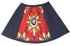 Girl's African Skirt  2T 3T 4T 5T 6T 7T 8T by ogekko on Etsy, $28.00