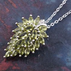 Arizona Peridot Platinum Over Sterling Silver Pendant with Chain