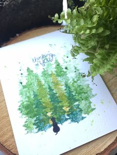 Deck the Halls with Inky Paws Week - Day 3 - Ruby Naz | One Layer Pine Tree card | Whispering Pines stamp set by Newton's Nook Designs #newtonsnook