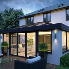 The next generation in conservatory/orangery roofing Orangerie Extension, Extension Veranda, House Extension Plans, Conservatory Extension, House Extension Design, Glass Extension, Roof Extension, House Design, Extension Ideas