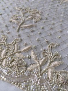 Beaded lace detail