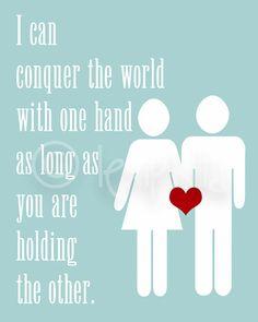 Inspirational amour Print je peux conquérir le par Lexiphilia