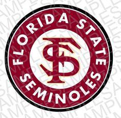 FSU Seminoles Inspired Decal SVG DXF Digital Downloads (1.99 USD) by MissAddisonsCloset