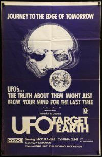 9y937 UFO TARGET EARTH 1sh '74 it might just blow your mind, journey to the edge…