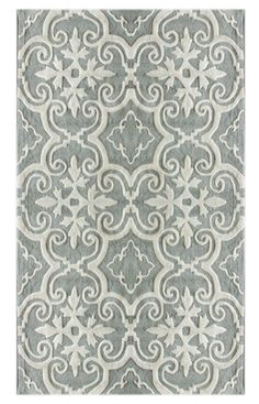 This is a great rug too, it has that slate color which would work in any palette and I live the pattern