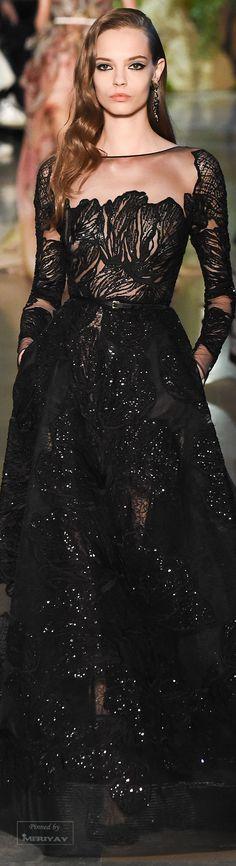 Une robe noire - Black dress - Elie Saab Spring 2015