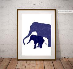 Digital download Printable art Navy blue wall by LavenderPixels