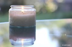 a fun little trick for used candle jars