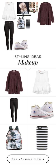 """""""Untitled #1011"""" by dallaslover22 on Polyvore featuring H&M, Lauren Ralph Lauren, Anna Sui, Aquolina, Marni, Converse, Valentino and Kate Spade"""