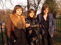 Carl Palmer, Keith Emerson, Greg Lake. Circa 1971
