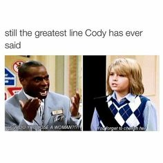 Hahaha I love this, but I miss the old Disney shows. Seeing this makes me feel nostalgic! Funny Cute, The Funny, Hilarious, Zack Et Cody, Sprouse Bros, Dylan Sprouse, 4 Panel Life, Old Disney, Funny Disney