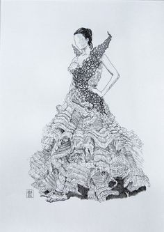 Katniss Everdeen's wedding dress (THG Catching Fire) - https://www.behance.net/gallery/33834594/Fashion-sketchbook-(films)