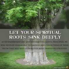 Let Your Spiritual Roots Sink Deeply - Joseph B. Wirthlin