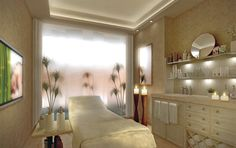 Want to know more about esthetician careers Massage Therapy Rooms, Massage Room, Spa Interior, Spa Room Decor, Home Decor, Spa Treatment Room, Facial Treatment, Facial Room, Esthetician Room