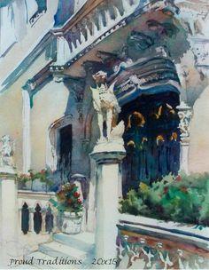 Mark de Mos, Proud Traditions (homage to John Singer Sargent Venice watercolors)