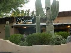 Restaurants Corral Restaurant In The Catalina Foothills El Corral Has Served Tucson Residents and Visitors For Over 75 Years The El Corral has been serving Tucson residents since That is a long time for any restaurant to stay… Tucson Restaurants, Catalina Foothills, Places Ive Been, Arizona, Outdoor Decor, Plants, Bucket, Plant, Buckets