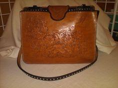 Custom Made Hand-Carved Leather Handbag on Etsy, $550.00
