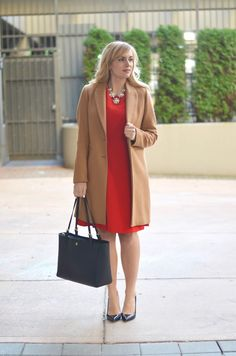 Red dress & Camel Co