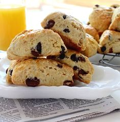 Chocolate Chip Breakfast Scones; made these this morning, but used half chocolate chips and half peanut butter chips. so yummy.