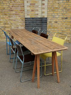 Antique trestle table. Beautiful wear and colouration to the top. the last of these that we have available.  origin: UK  year: 1900