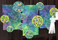 """""""Wandering 'Round My World"""" was made by Beth Schilling from Columbus, OH.  Beth won the Best Innovative Quilt Award."""