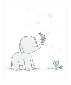 Another great find on #zulily! Elephant Catching Bubbles 8'' x 10'' Print #zulilyfinds