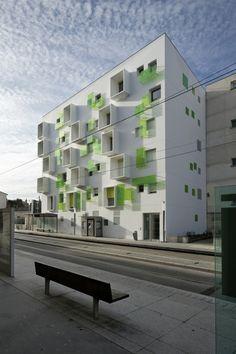 Agence Bernard Bühler - Nova Green, Bordeaux, France (2012) #housing #collective