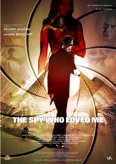 'The Spy Who Loved Me' - Poster 2 Caroline Munro, Spy Who Loved Me, Roger Moore, James Bond, Good Movies, Pop Culture, Movie Posters, Stage, Films