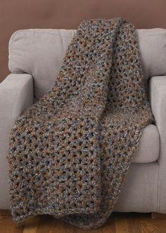 Crochet 5 1 2 Hour Throw Pattern - Lion Brand Yarn
