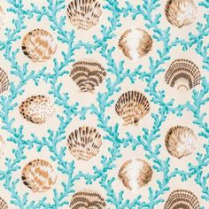 Landscape Medley Ocean Waves By Elizabeth/'s Studio Craft Cotton Quilting Fabric❤