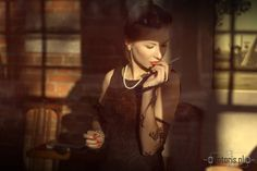 woman, smoke, cigarette, elegance, kobieta, papieros, elegancja, palenie