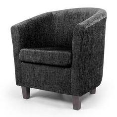 Maurice Black Chenille Tub Chair