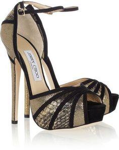 Jimmy Choo Kalpa Elaphe and Suede Pumps Shoes Eye Candy S pumps shoes |2013 Fashion High Heels|