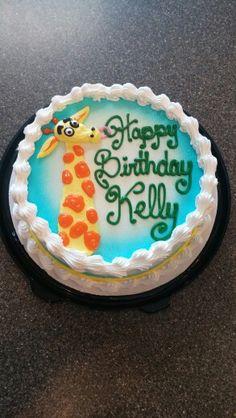 Dairy Queen giraffe cake by Mandy