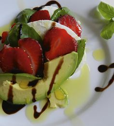 Strawberry Avocado Caprese Salad from Carolina Girl Cooks! YUM-O!