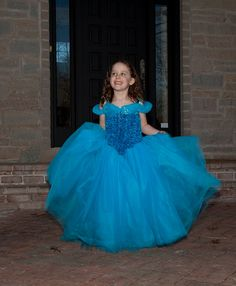 Cinderella Ball Gown Girls Dress Inspired by Disney 2015 Cinderella Movie Birthday party Wedding special even