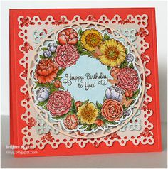 """Card for mum - with Flourishes stamp """"Mother's Words of Wisdom"""""""