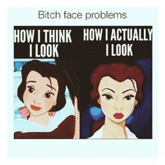 resting bitch-face problems