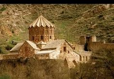 The St. Stepanos Monastery is an Armenian monastery about 15 km northwest of Jolfa city, East Azarbaijan Province northeast Iran. It is situated in a deep canyon along the Arax river on the Iranian side of the border between Azerbaijan and Iran. It was built in the 9th century and rebuilt in the Safavid era after several earthquakes damaged it.