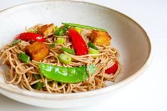 Soba Noodle Stir Fry With a Miso-Almond Butter Sauce - Organic Authority Miso Recipe, Food Terms, Stir Fry Ingredients, Organic Recipes, Ethnic Recipes, Soba Noodles, Eat Lunch, Butter Sauce, Noodle Recipes