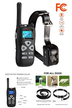 Iduola Dog Training Collar with Remote Dog Training Shock Collar for Small Medium Large Dogs, Upgraded Version] Waterproof Rechargeable with Beep/Vibration/Electric Shock Dog Training Tools, Best Dog Training, Large Dogs, Small Dogs, Shock Collar, Electric Shock, Training Collar, Best Dogs, Collars