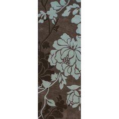 nuLOOM Handmade Pino Yarrow Brown/ BlueFloral Rug (2'6 x 8 Runner) - Overstock™ Shopping - Great Deals on Nuloom Runner Rugs