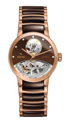 Rado Women's Centrix Open Heart Diamond Automatic Analog Watch for sale online Armband Rosegold, Gold Armband, Latest Watches, Watches For Men, Mesh Armband, Watch Model, Brown Fashion, Mens Fashion, Fashion Trends