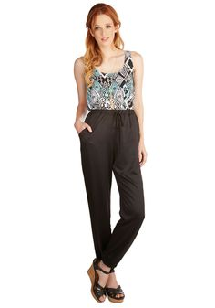 In the Name of Luxury Pants. There are many ways one can do chic, and you choose these satiny black pants to savor comfy style. #black #modcloth