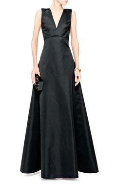 Satin V-Neck Gown by No. 21 - Moda Operandi