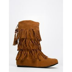 LIMA MOCCASIN-143 BOOT ($37) ❤ liked on Polyvore featuring shoes, boots, tan, beaded moccasins, mid-calf boots, cowboy boots, vegan cowgirl boots y western boots